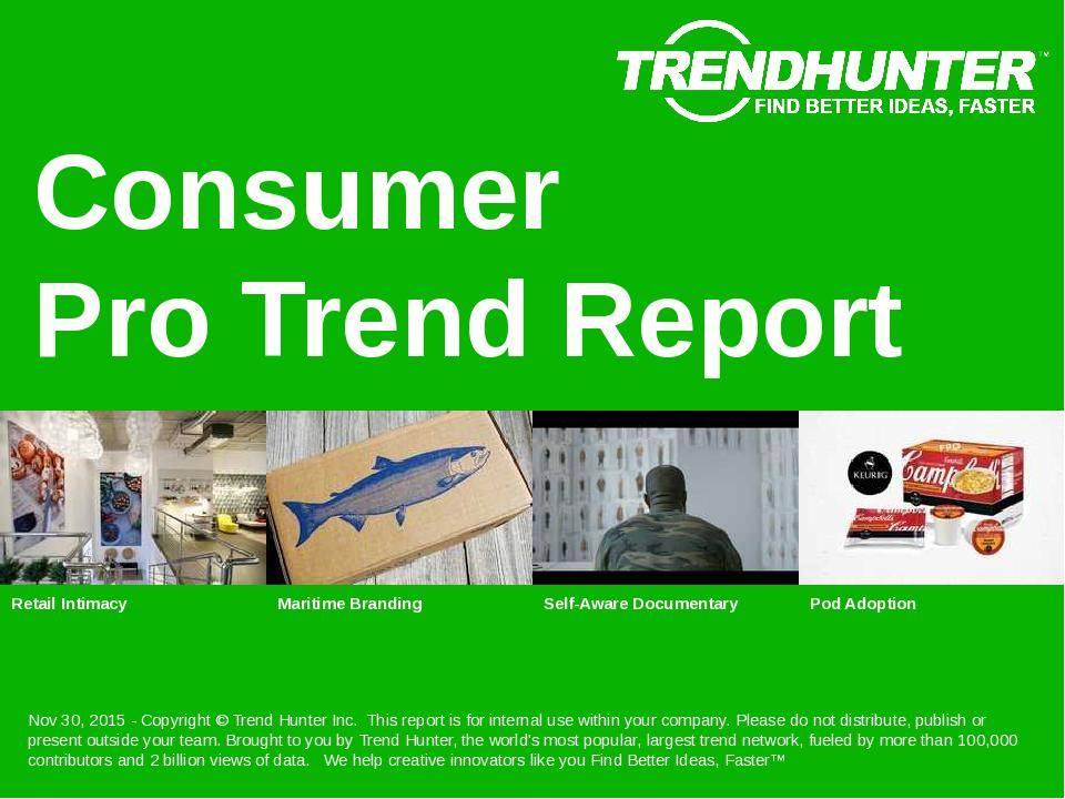Consumer Trend Report Research
