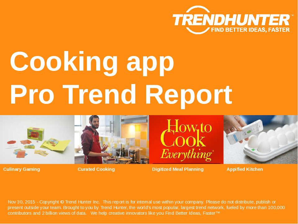 Cooking app Trend Report Research