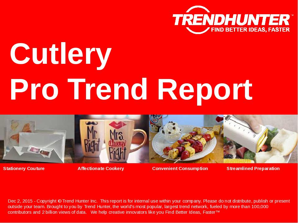 Cutlery Trend Report Research