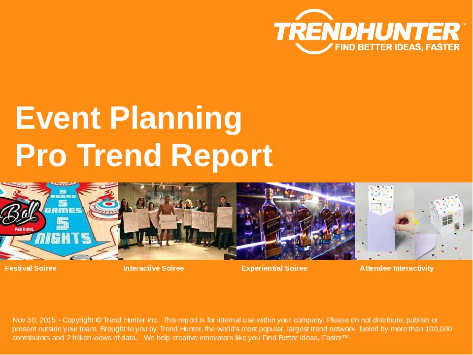 Event Planning Trend Report Research