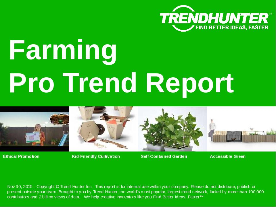 Farming Trend Report Research