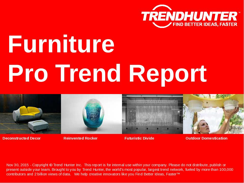 Furniture Trend Report Research