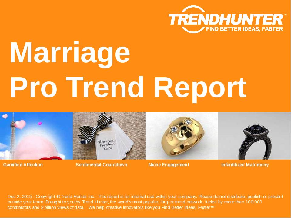Marriage Trend Report Research