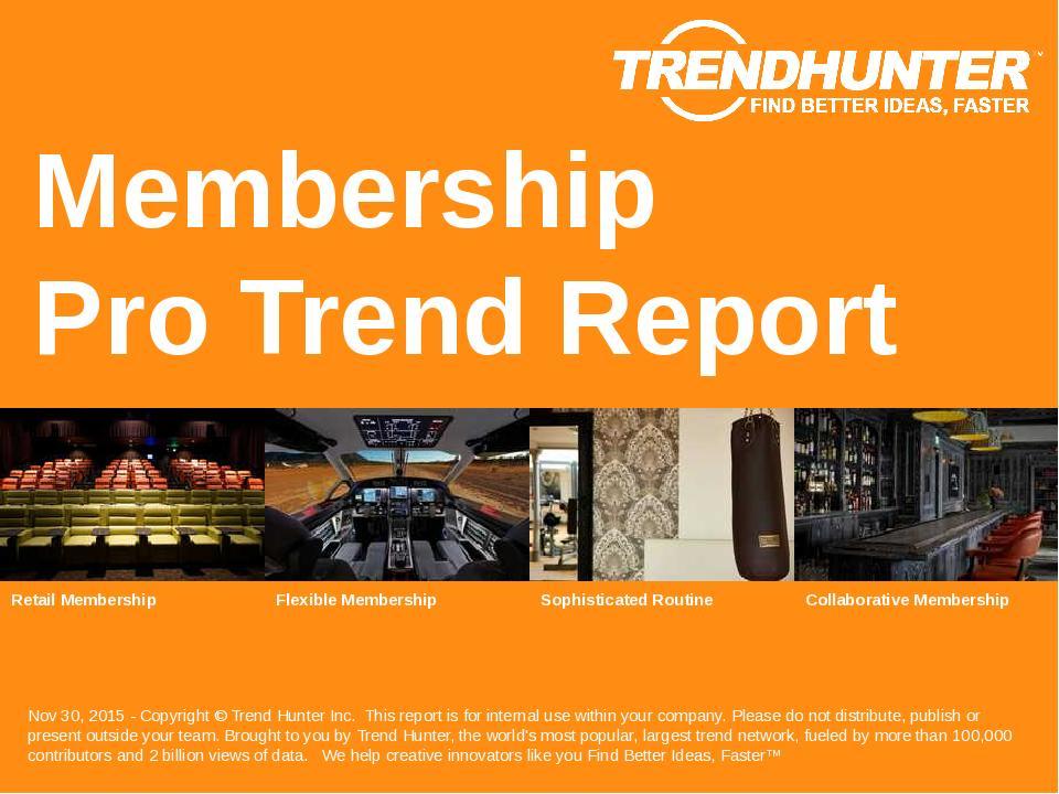 Membership Trend Report Research