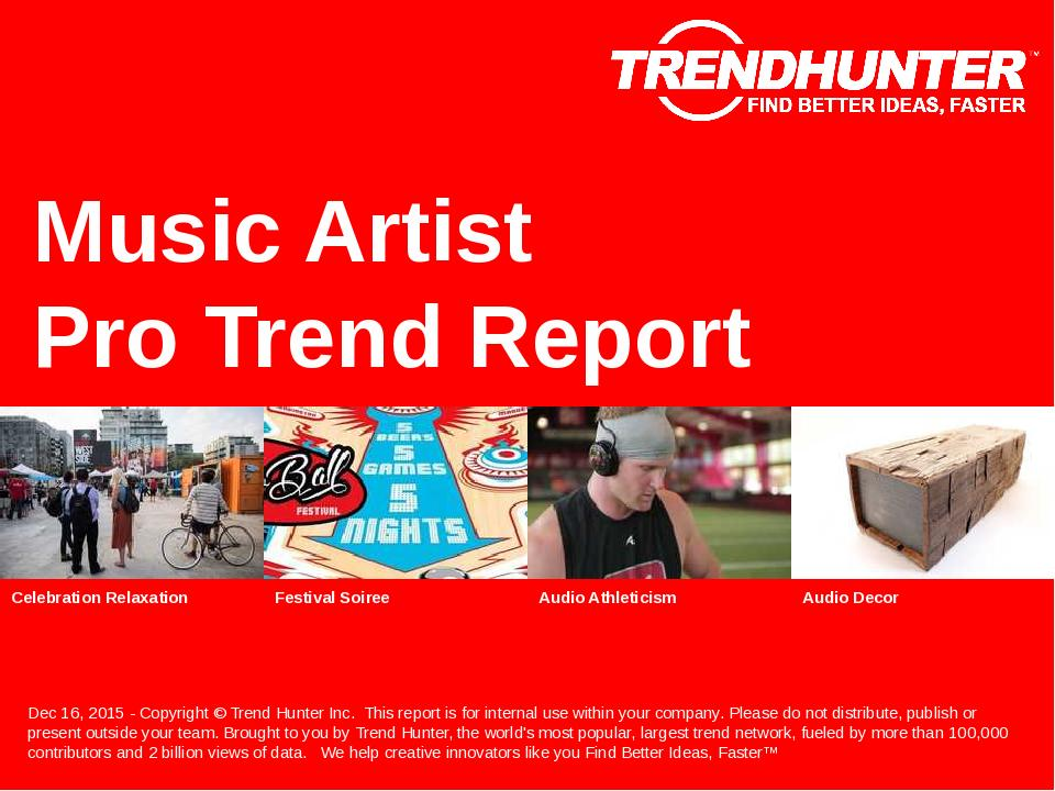 Music Artist Trend Report Research