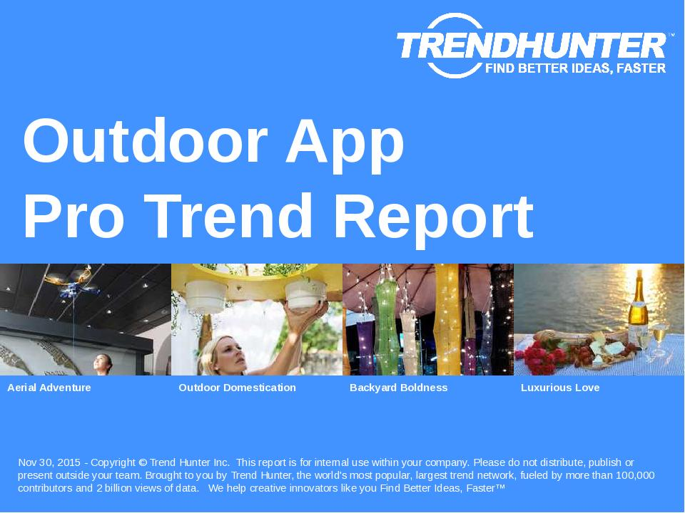 Outdoor App Trend Report Research