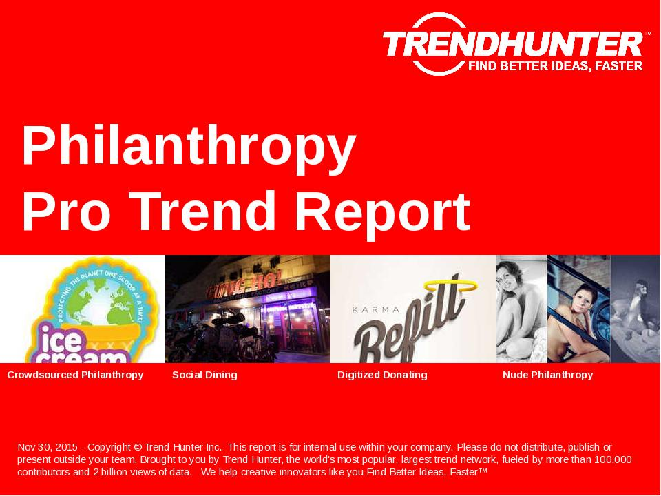 Philanthropy Trend Report Research
