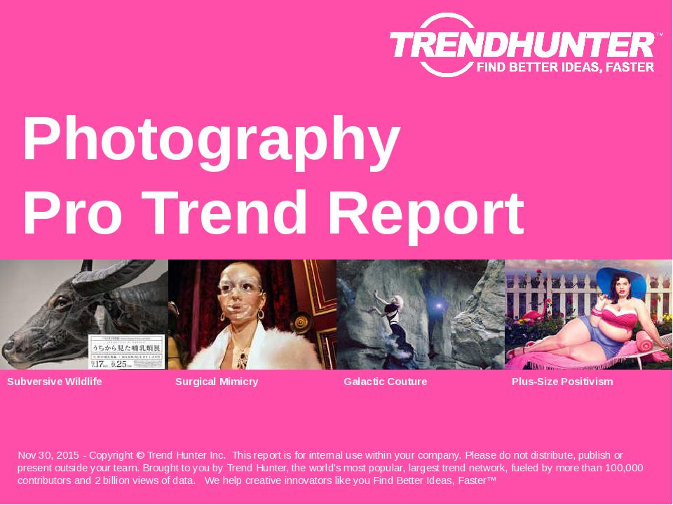 Photography Trend Report Research
