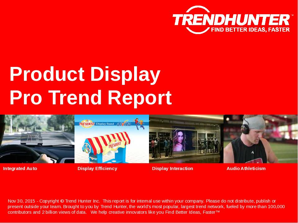 Product Display Trend Report Research