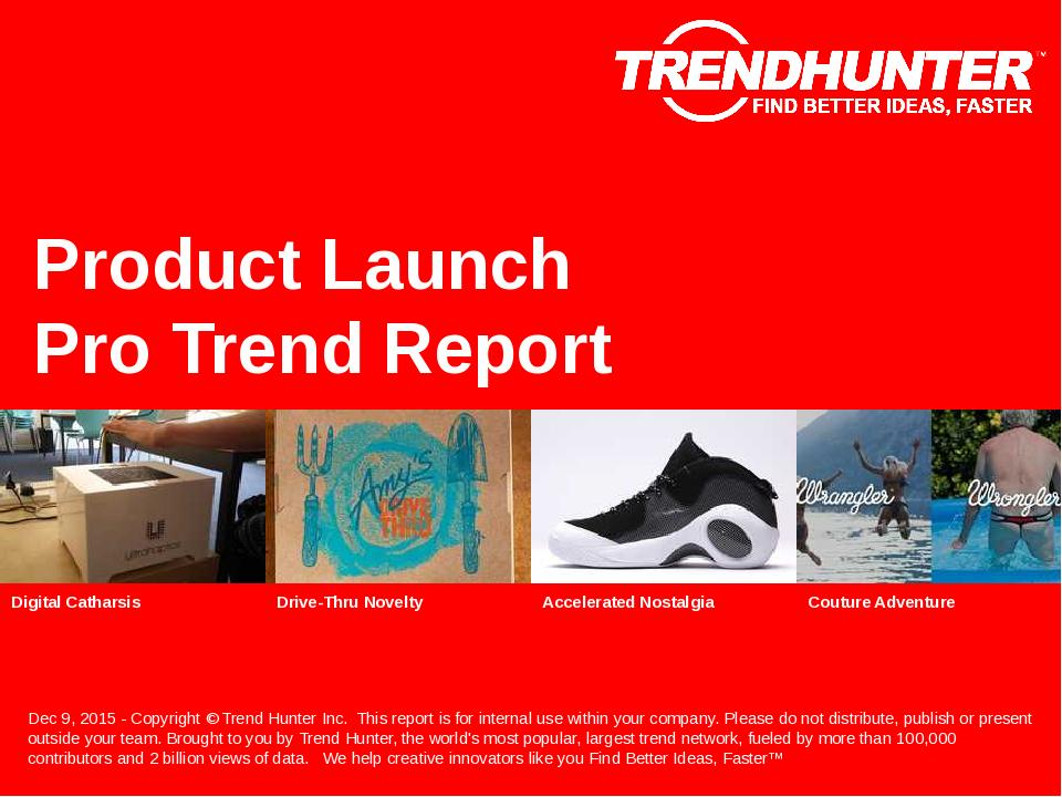 Product Launch Trend Report Research