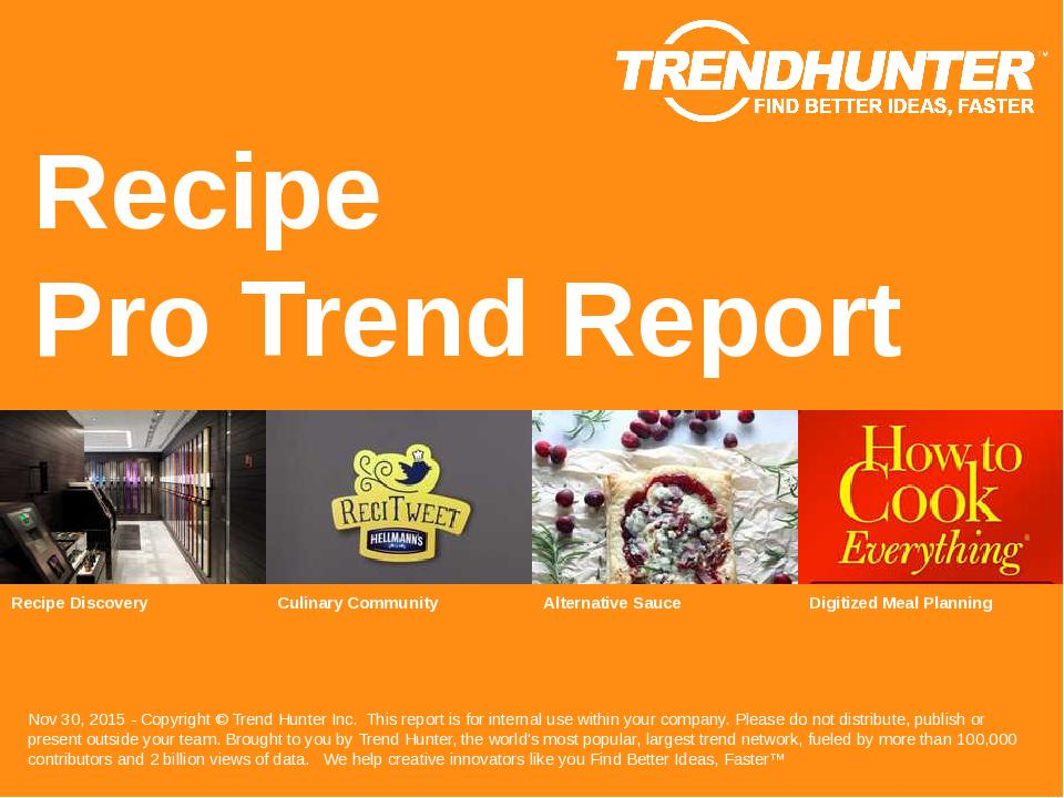 Recipe Trend Report Research