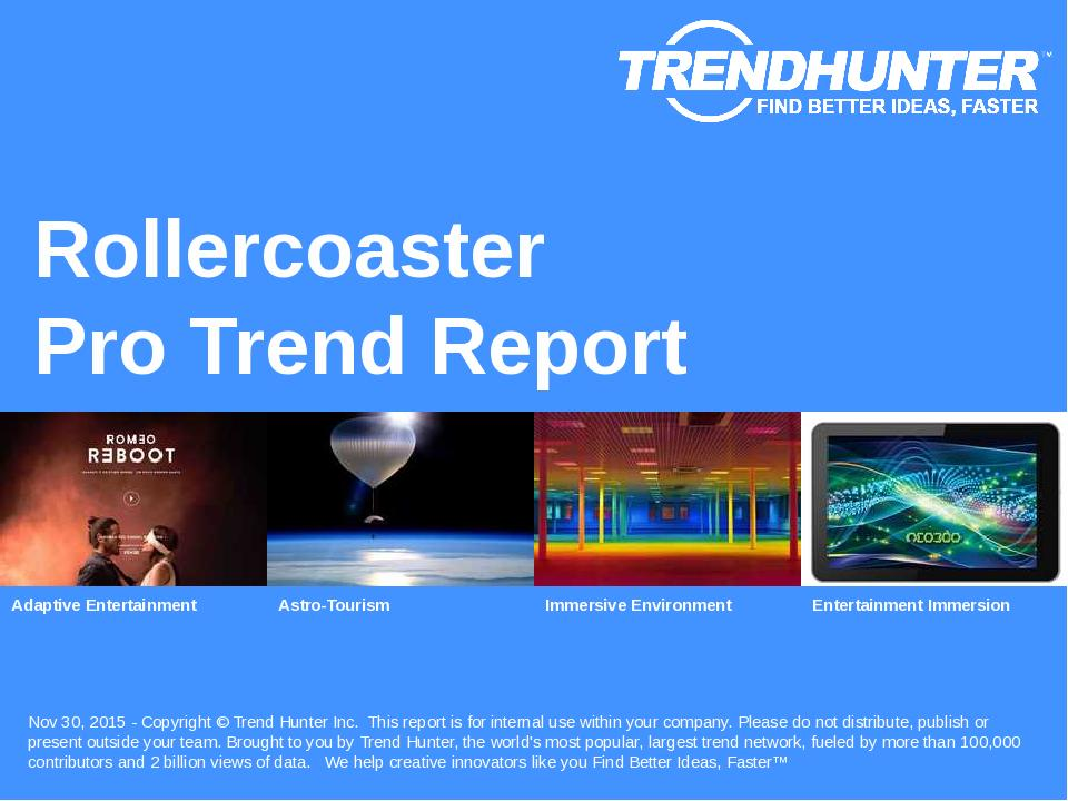 Rollercoaster Trend Report Research