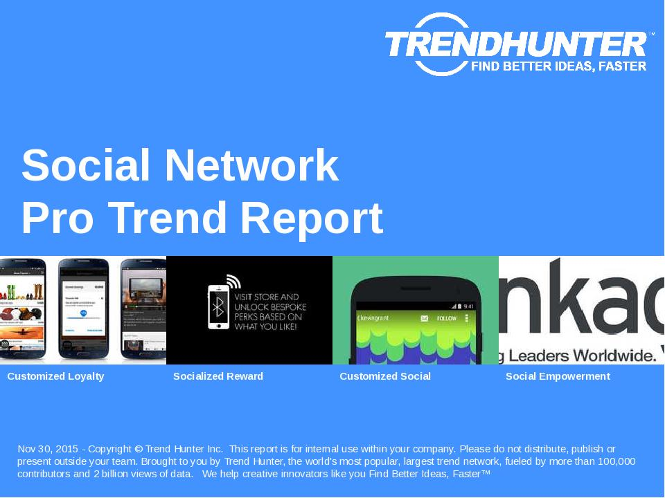 Social Network Trend Report Research