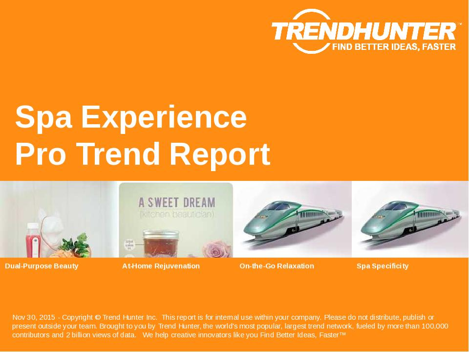 Spa Experience Trend Report Research