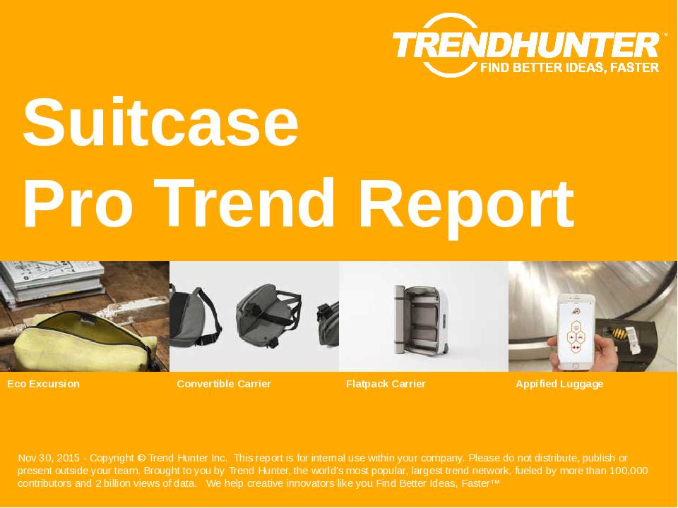 Suitcase Trend Report Research