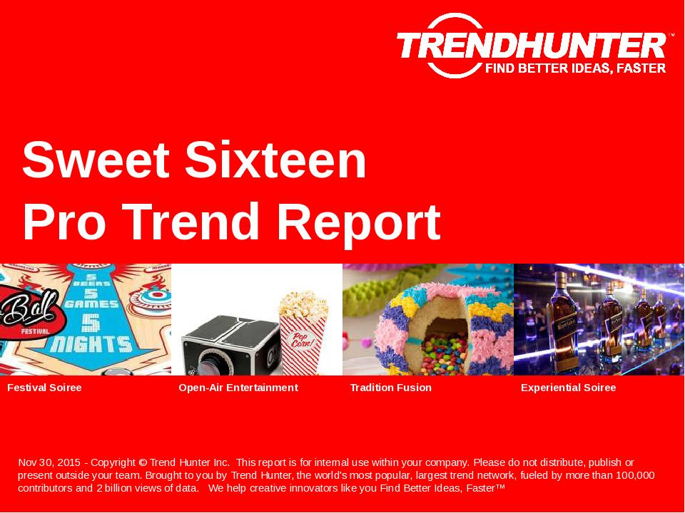 Sweet Sixteen Trend Report Research