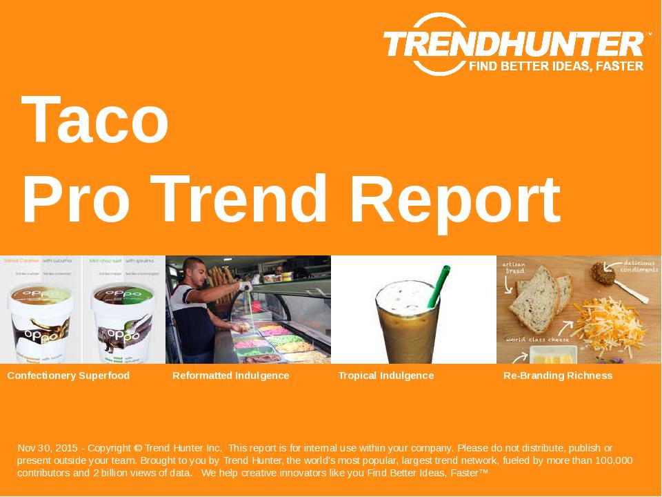 Taco Trend Report Research