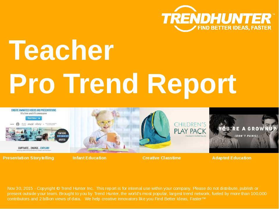 Teacher Trend Report Research