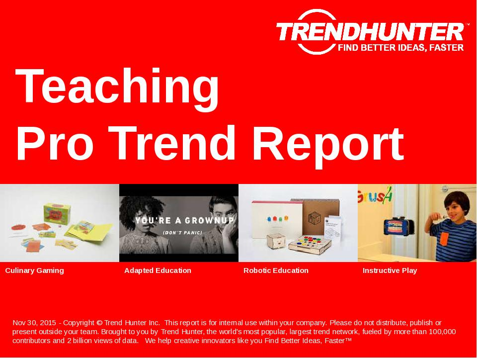 Teaching Trend Report Research