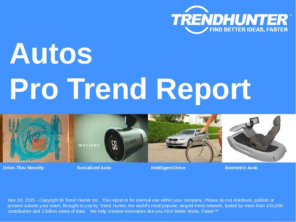 Autos Trend Report Research