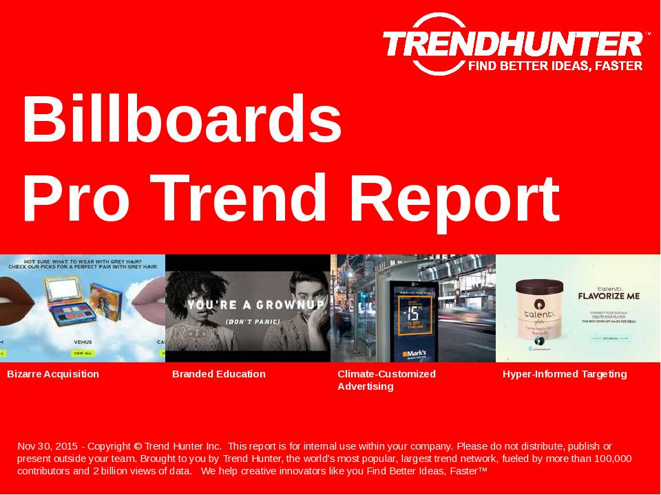 Billboards Trend Report & Custom Billboards Market Research