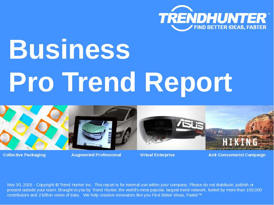 Business Trend Report Research