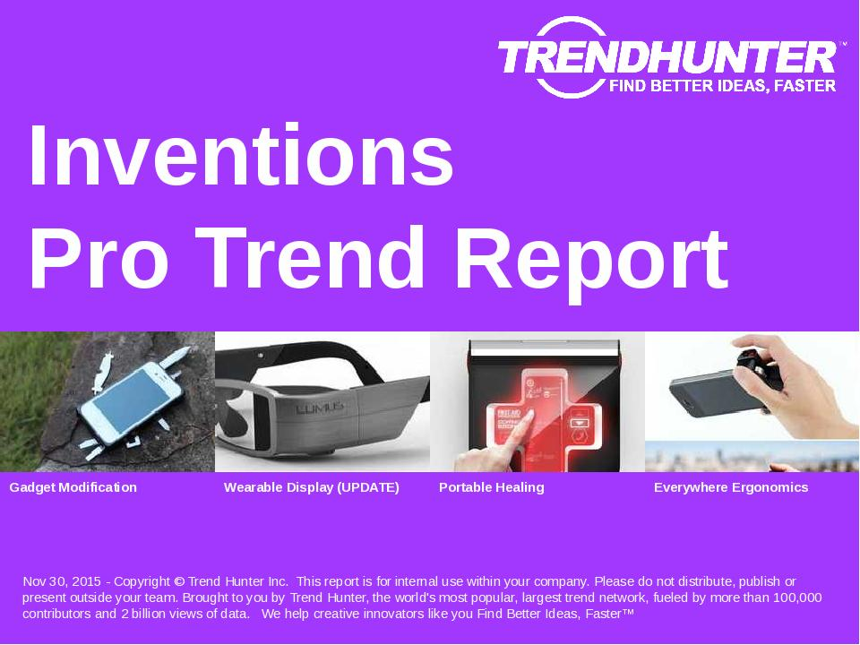 Inventions Trend Report Research