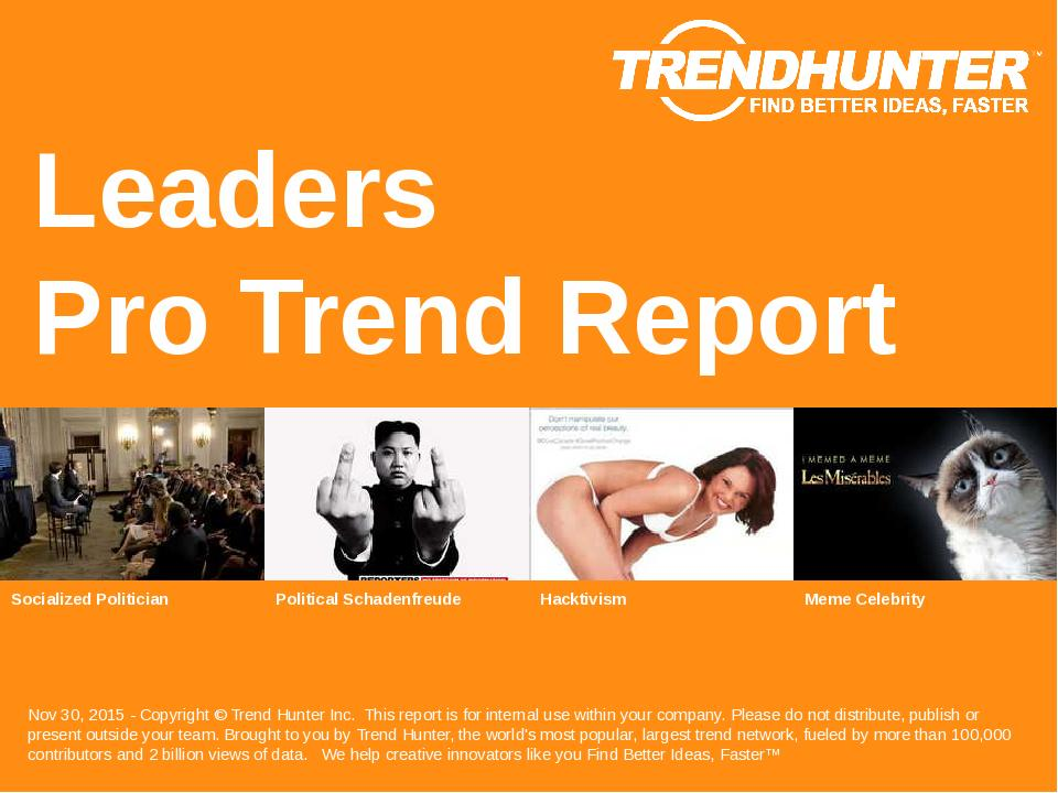 Leaders Trend Report Research