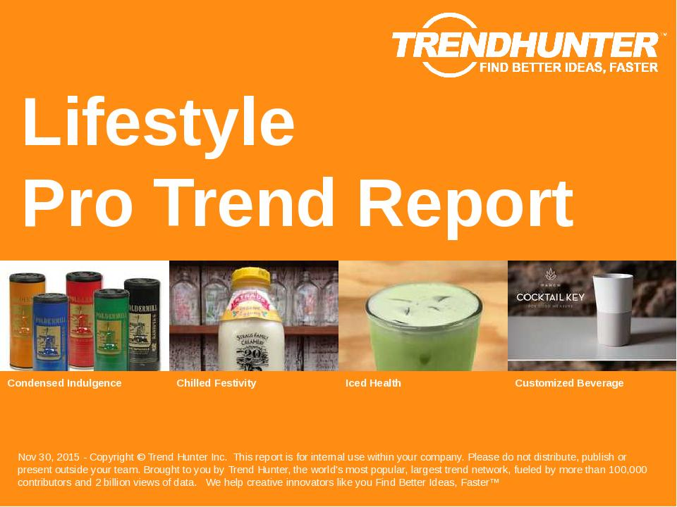 Lifestyle Trend Report Research