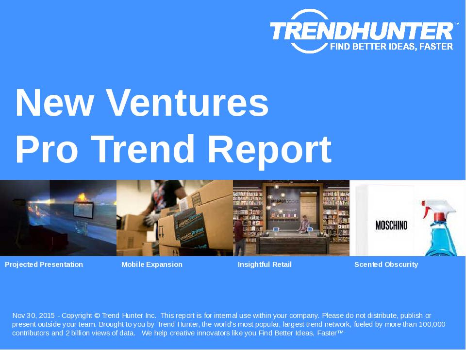 New Ventures Trend Report Research