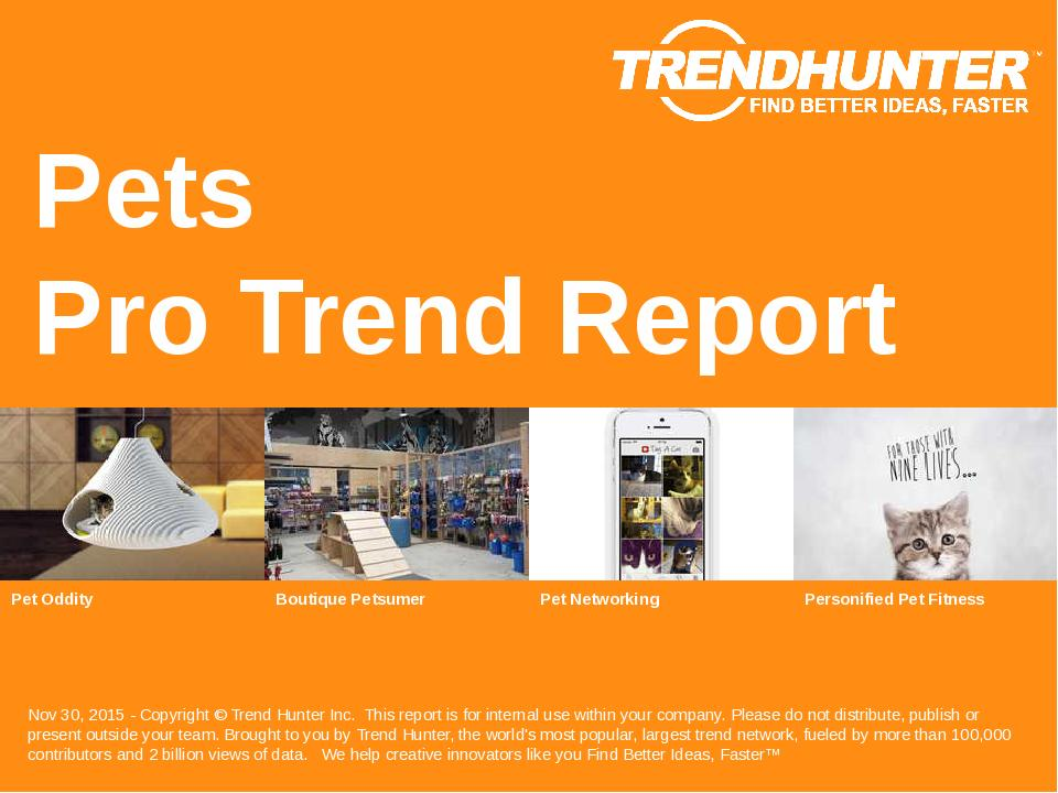 Pets Trend Report Research