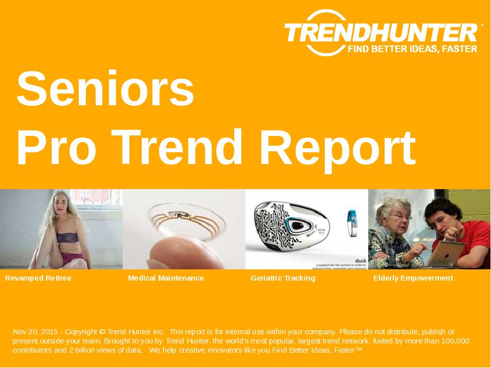 Seniors Trend Report Research