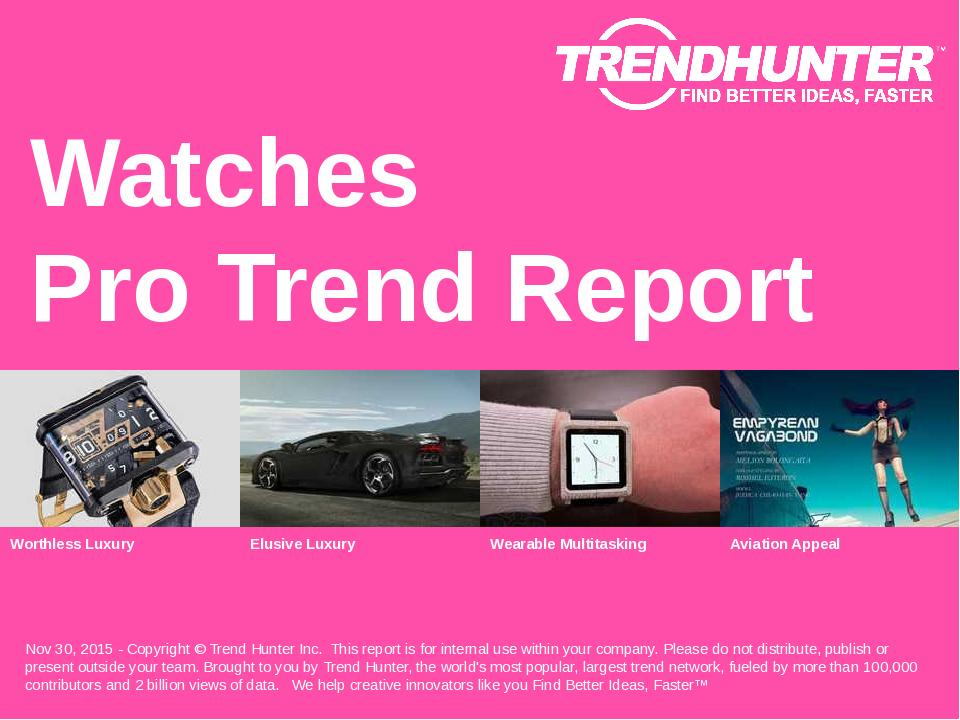 Watches Trend Report Research