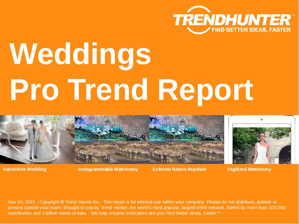 Weddings Trend Report Research