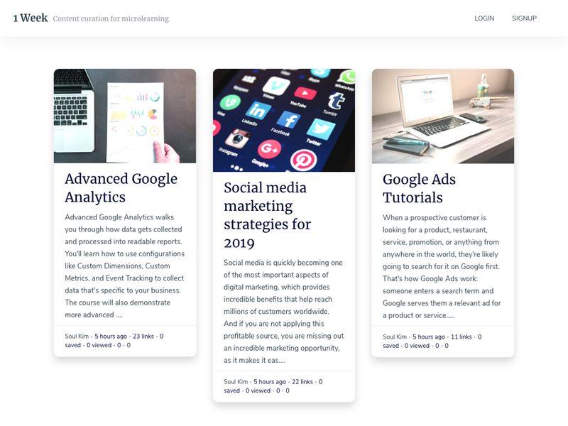 AI-Powered Microlearning Platforms : 1 Week platform