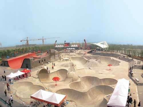 130,000 Square Foot Skateboard Park New Jiangwan City China