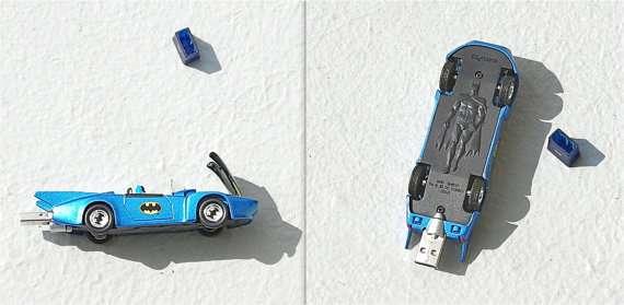 Upcycled Batman Flash Drives