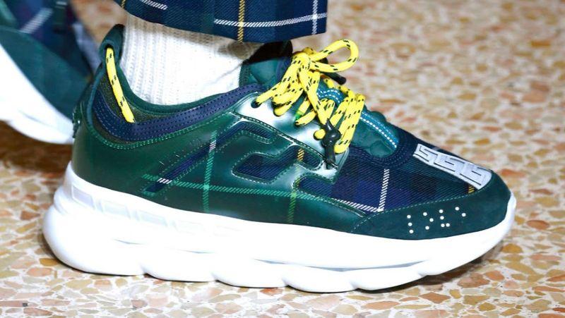 Chain Reaction sneakers - Green Versace UcK69