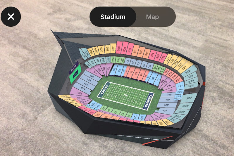 AR Football Stadium Seats