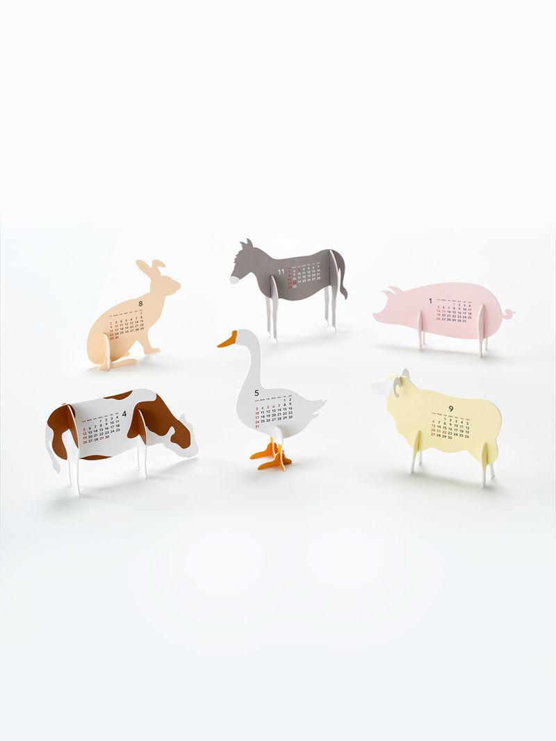 Farm-Themed Paper Calendars