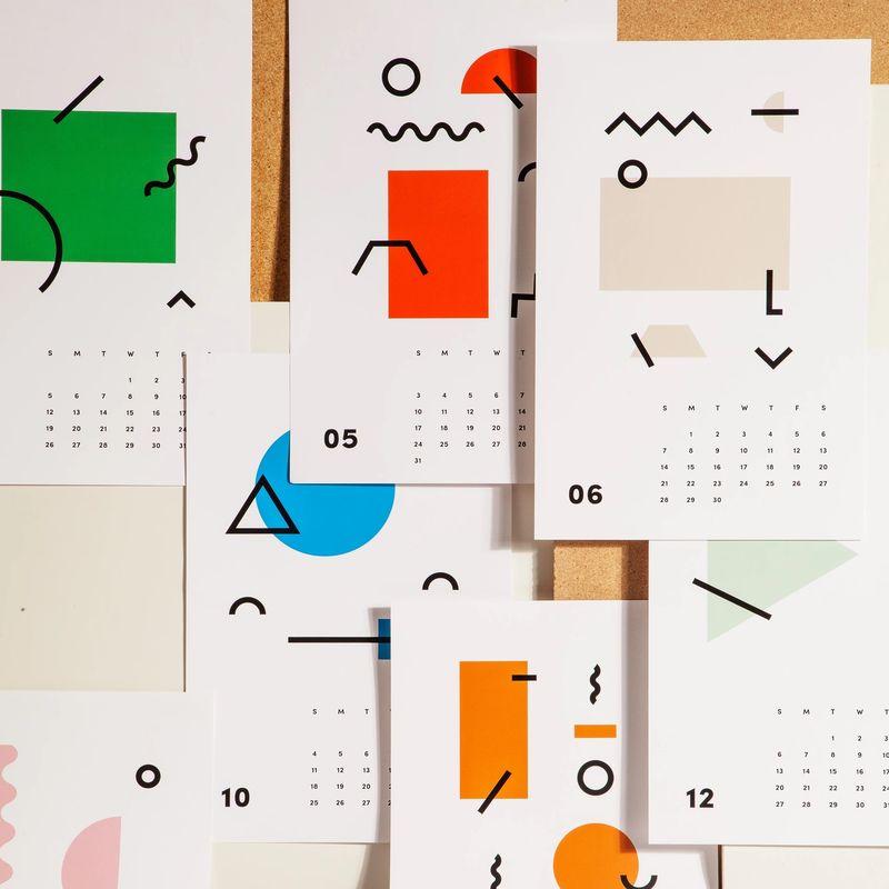 Abstract Art Calendars
