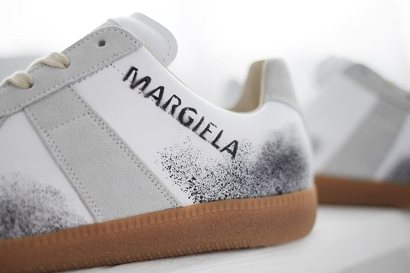Graffiti-Accented Luxe Sneakers
