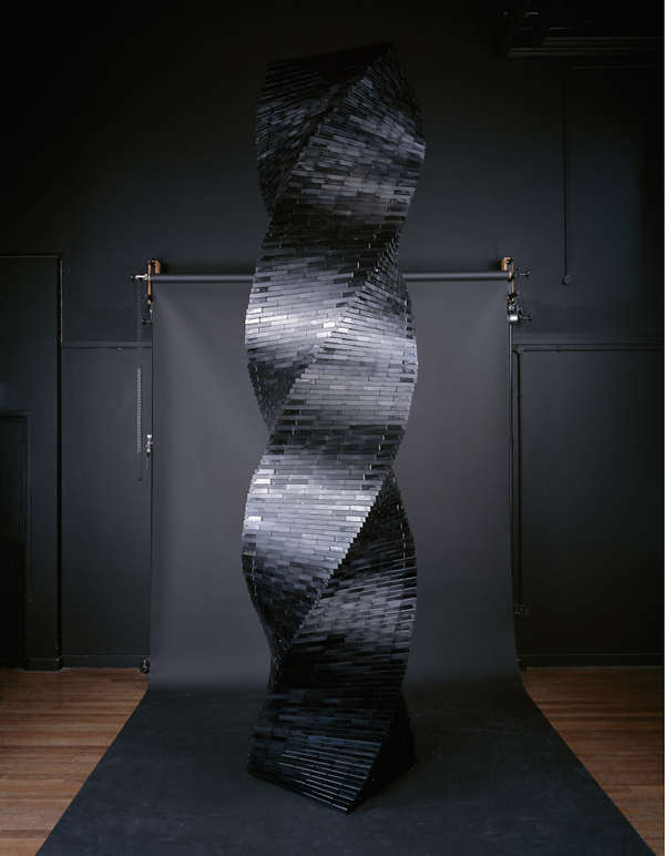 Upcycled Video Tape Sculptures