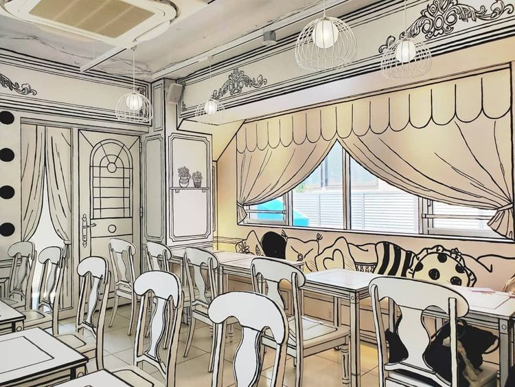 Coloring Book-Themed Cafes