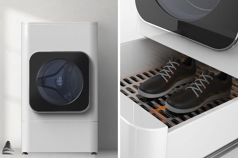 Footwear-Freshening Washing Machines