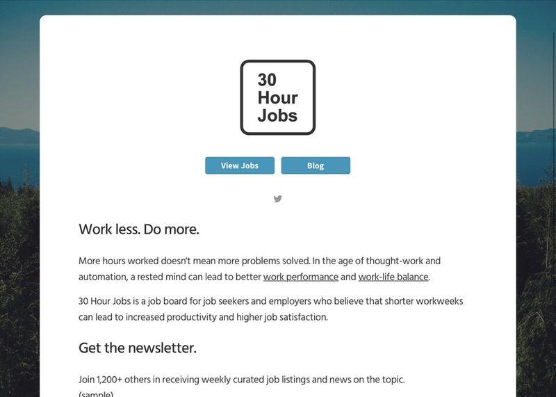 Shortened Workweek Job Platforms