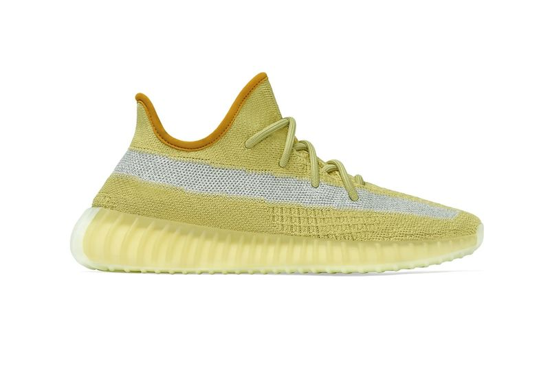 Bright Yellow Knit Sneakers