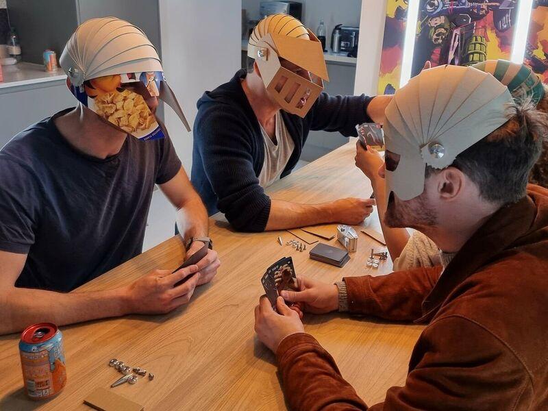 Cardboard Helmet Card Games