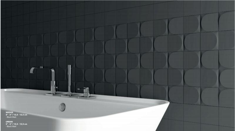Minimalist 3D Bathroom Tiles