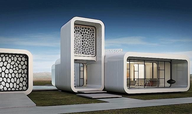 3D-Printed Office Buildings